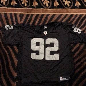 Vintage Seymour Oakland raiders jersey men's large